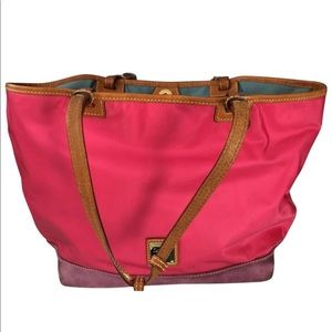 Pink Canvas and suede Tote